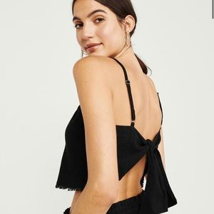 Abercrombie & Fitch Tie-Back Crop Top